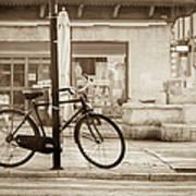 Old Bicycle Parking Art Print