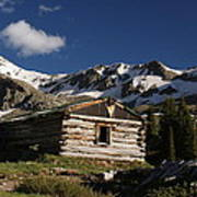 Old Cabin In Rocky Mountains Art Print