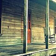 Old Country Front Porch Art Print
