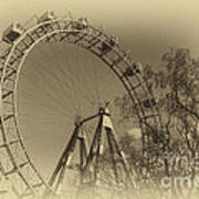 Old Ferris Wheel Art Print