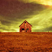 Old House On The Hill Art Print by Edward Fielding