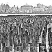 Old Piers Art Print