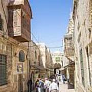Old Town Street In Jerusalem Israel Art Print