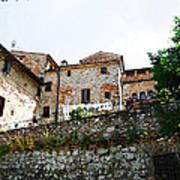 Old Towns Of Tuscany San Gimignano Italy Art Print