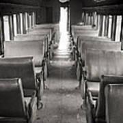 Old Train Seats Art Print