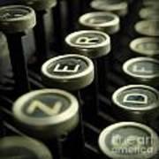 Old Typewrater Art Print