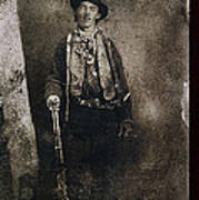 Only Authenticated Photo Of Billy The Kid Ft. Sumner New Mexico C.1879-2013 Art Print