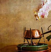 Orchid And Copper Fondue Art Print
