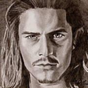 Orlando Bloom Art Print