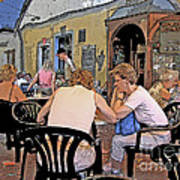 Outside Seating Art Print