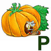 P Art Alphabet For Kids Room Art Print