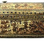 Painted Chest Depicting A King Art Print