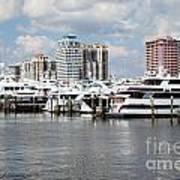 Palm Beach Docks Art Print