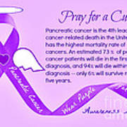 Pancreatic Cancer Awareness Art Print