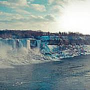 Panorama - Niagara Falls In Winter Art Print