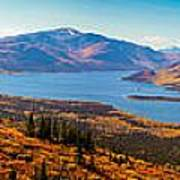 Panorama Of Fish Lake Yukon Territory Canada Art Print