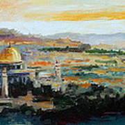 Panorama Of Jerusalem Art Print