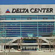 Panoramic Of Delta Center Building Art Print