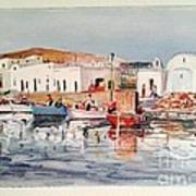 Paros-naousa Art Print by George Siaba