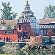 Pasupatinath Temple Of Cremation Complex In Kathmandu-nepal- Art Print