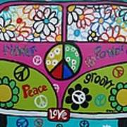 Peace Love Dub Art Print