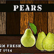 Pear Farm Art Print
