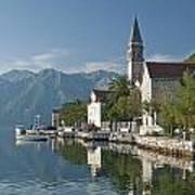 Perast Village On Kotor Bay Montenegro  Art Print