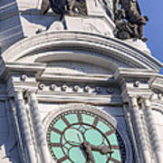 Philadelphia City Hall Clock Art Print