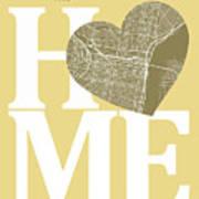 Philadelphia Street Map Home Heart - Philadelphia Pennsylvania R Art Print