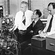 Physicists Brattain, Bardeen And Art Print by Science Photo Library