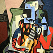 Picasso's Harlequin Musician Art Print
