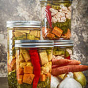 Pickled Vegetables Art Print