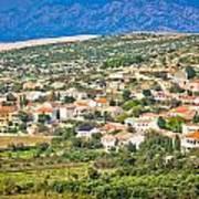 Picturesque Mediterranean Island Village Of Kolan Art Print