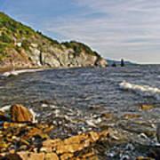 Pillar Rock In Cape Breton Highlands Np-ns Art Print