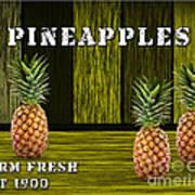 Pineapple Farm Art Print