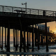 Pismo Beach Pier At Sunset, San Luis Art Print