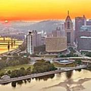 Pittsburgh Sunrise Panorama Art Print