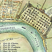 Plan Of New Orleans, 1798 Art Print