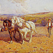 Ploughing Art Print