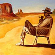 Poet In The Desert Art Print by Joseph Malham