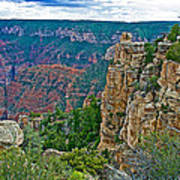 Point Imperial At 8803 Feet On North Rim Of Grand Canyon National Park-arizona   Art Print