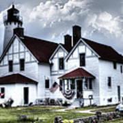 Point Iroquois Lighthouse Michigan Art Print