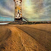 Point Of Ayre Lighthouse Art Print