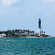 Pompano And The Hillsboro Inlet Lighthouse Art Print