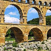 Pont Du Gard In Southern France Art Print