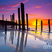 Port Willunga Sunset Art Print