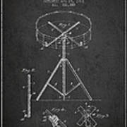 Portable Drum Patent Drawing From 1903 - Dark Art Print by Aged Pixel