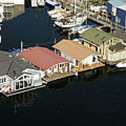 Portage Bay And Houseboats, Seattle Art Print