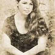 Portrait Of A Vintage Lady Art Print