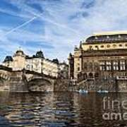 Prague From Vltava Art Print